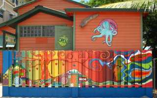 Чем покрасить деревянный забор