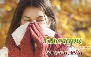 Как быстро вылечить насморк дома