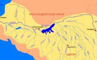 Как найти падение реки Кубань