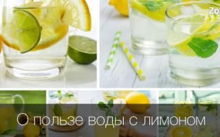 Полезно ли пить воду с лимоном